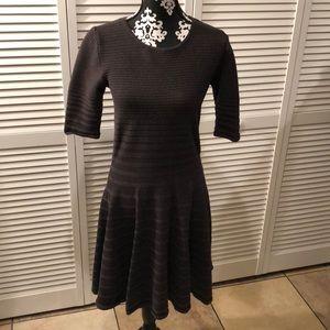 Ivanka Trump Ribbed Knit Dress Medium